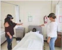 Nursing Students With VR Headset